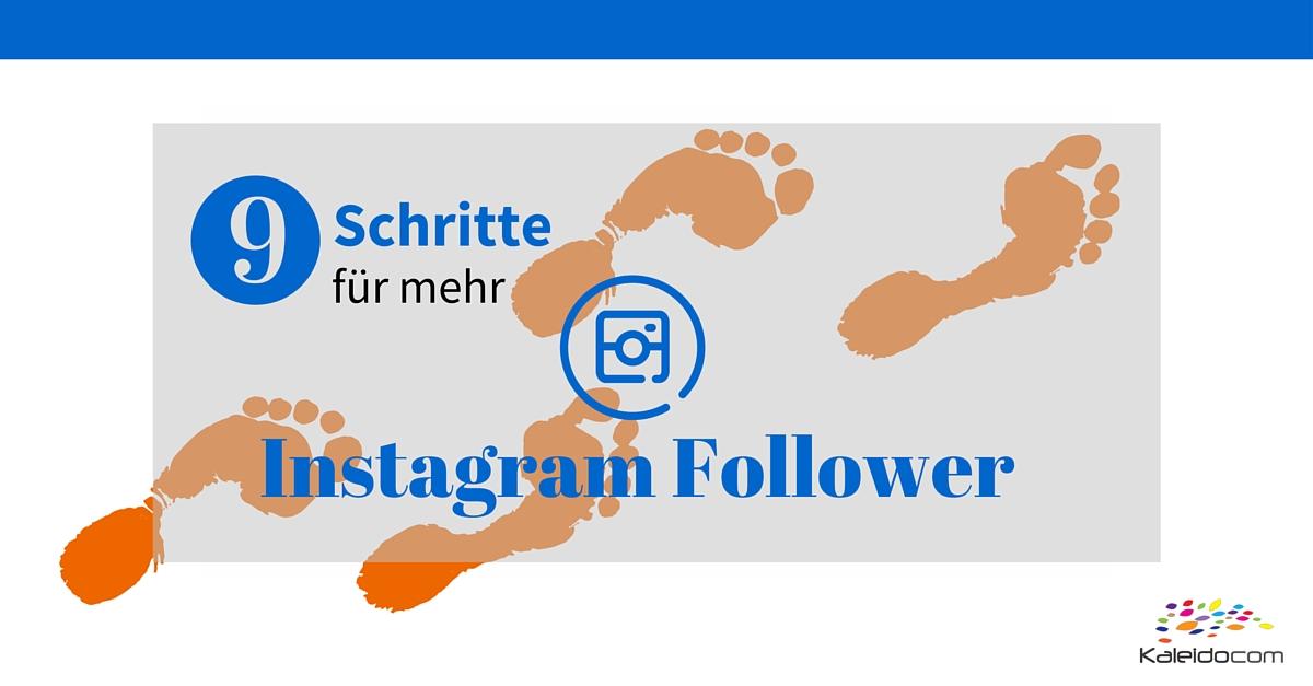 9 Schritte für mehr Instagram Follower