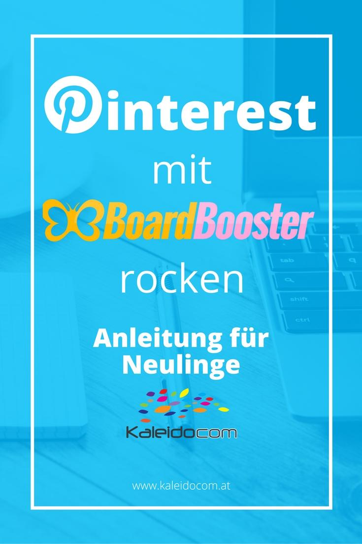 BoardBooster hilft Deinen Pinterest Account nach vorne zu bringen und die Zugriffe auf Deine Webseite zu erhöhen. Wir haben die Beschreibung für Dich!