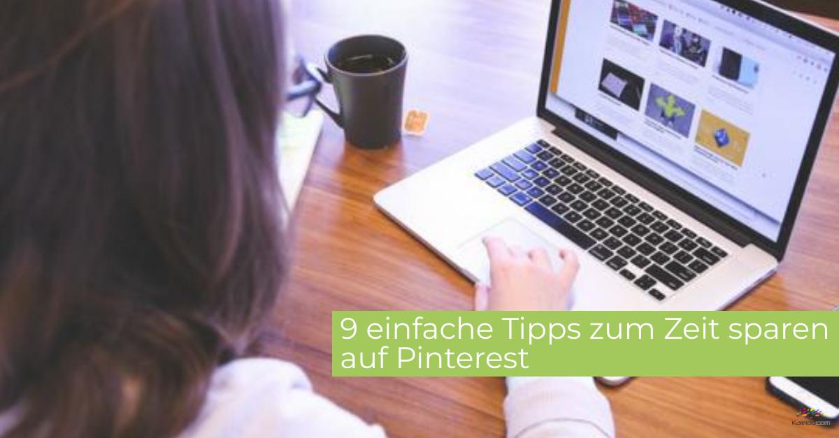 9 Tipps zum Zeit sparen auf Pinterest 1