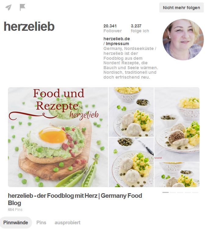 Pinterest Account Herzelieb