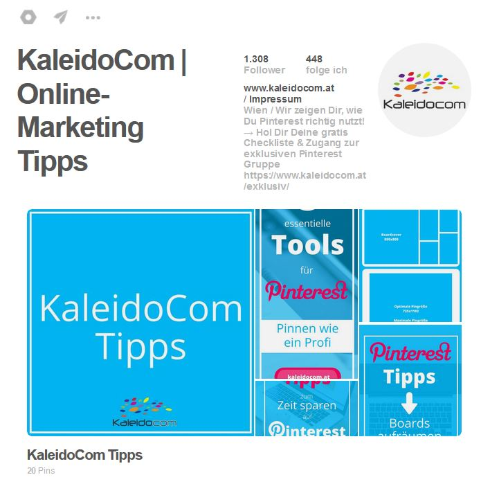 Pinterest Account Kaleidocom