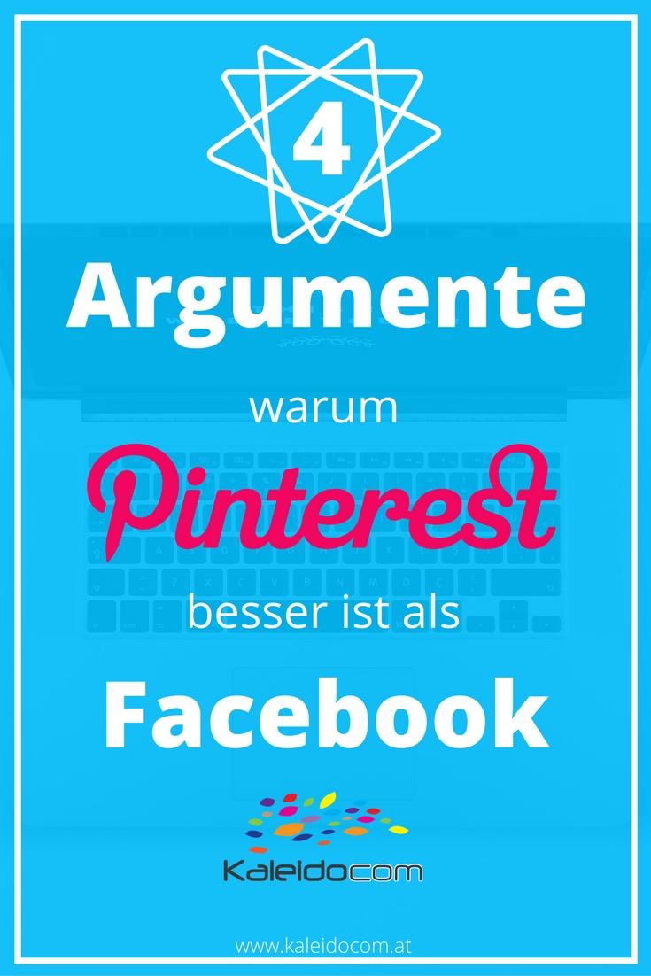 4 gute Gründe, warum Pinterest besser ist als eine Facebook Seite