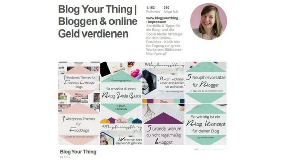 Pinterest Account Blog Your Thing