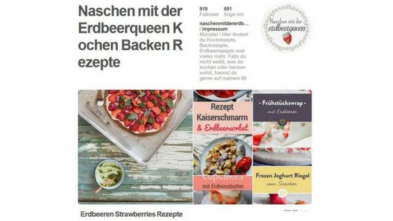 Pinterest Account Naschen mit der Erdbeerqueen