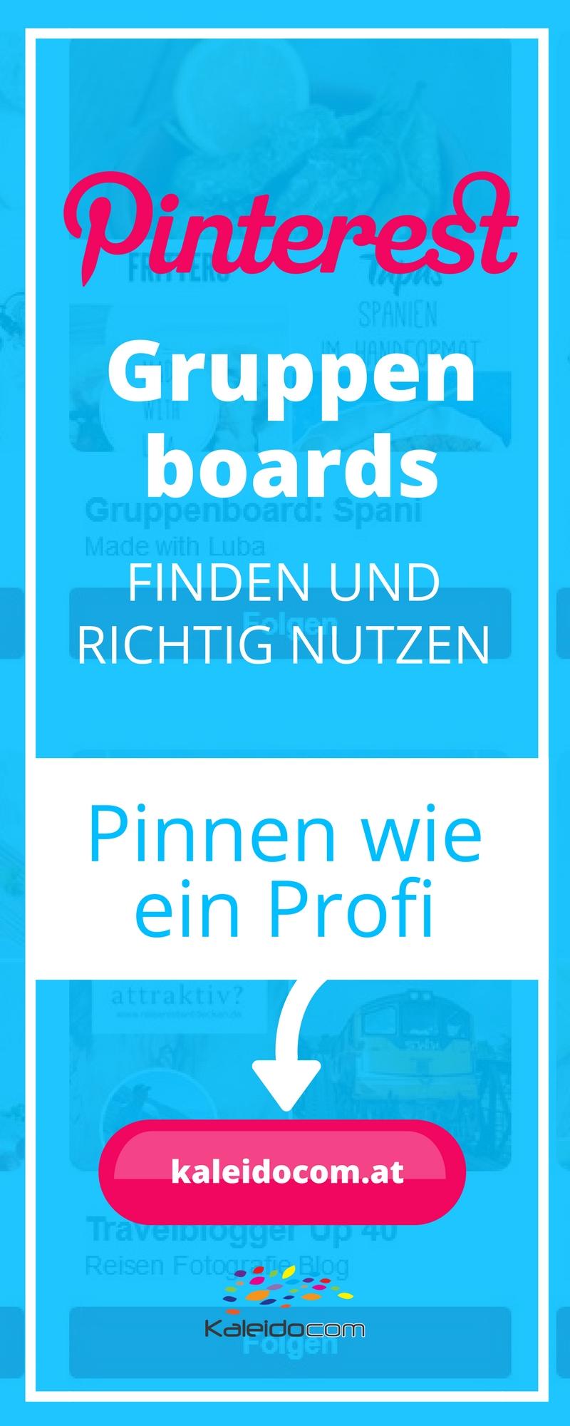Gruppenboards sind ein wichtiger Teil der Trafficstrategie auf Pinterest. Gruppenboards finden und nutzen - so geht's!