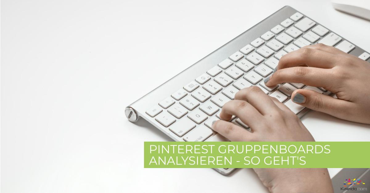 Pinterest Gruppenboards analysieren 1