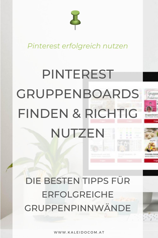 Pinterest Gruppenboards finden und richtig nutzen 3