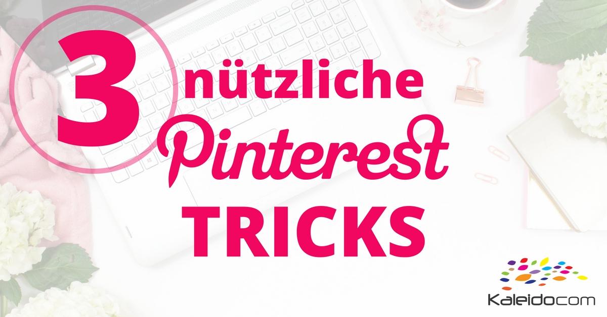 3 nützliche Tricks für Pinterest 1