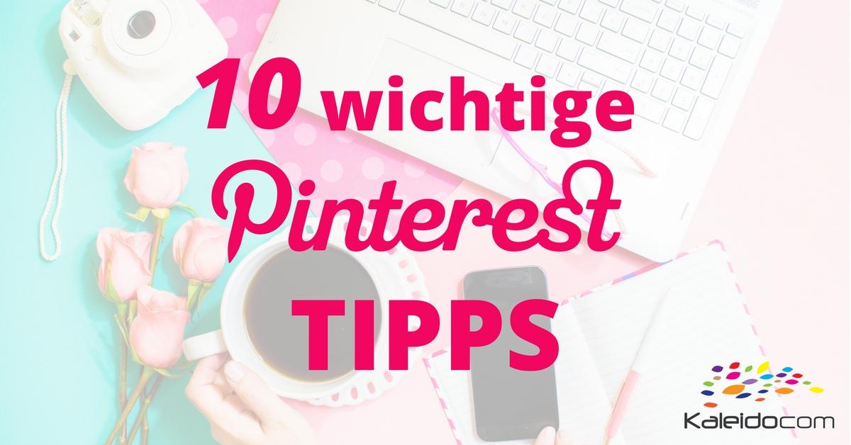 Pinterest Tipps für Kleinunternehmen