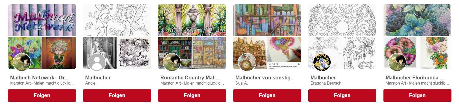 Pinterest Suche Malbücher
