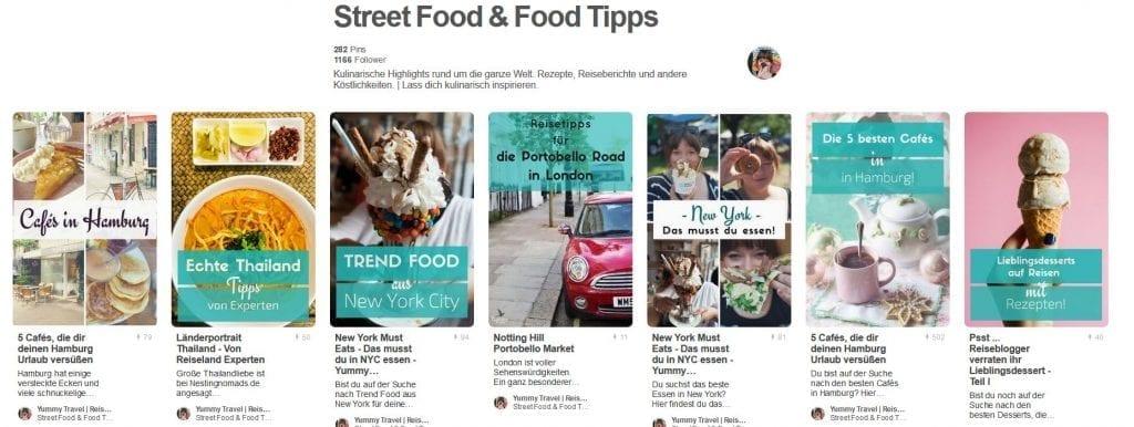 Yummy Travel Board Street Food