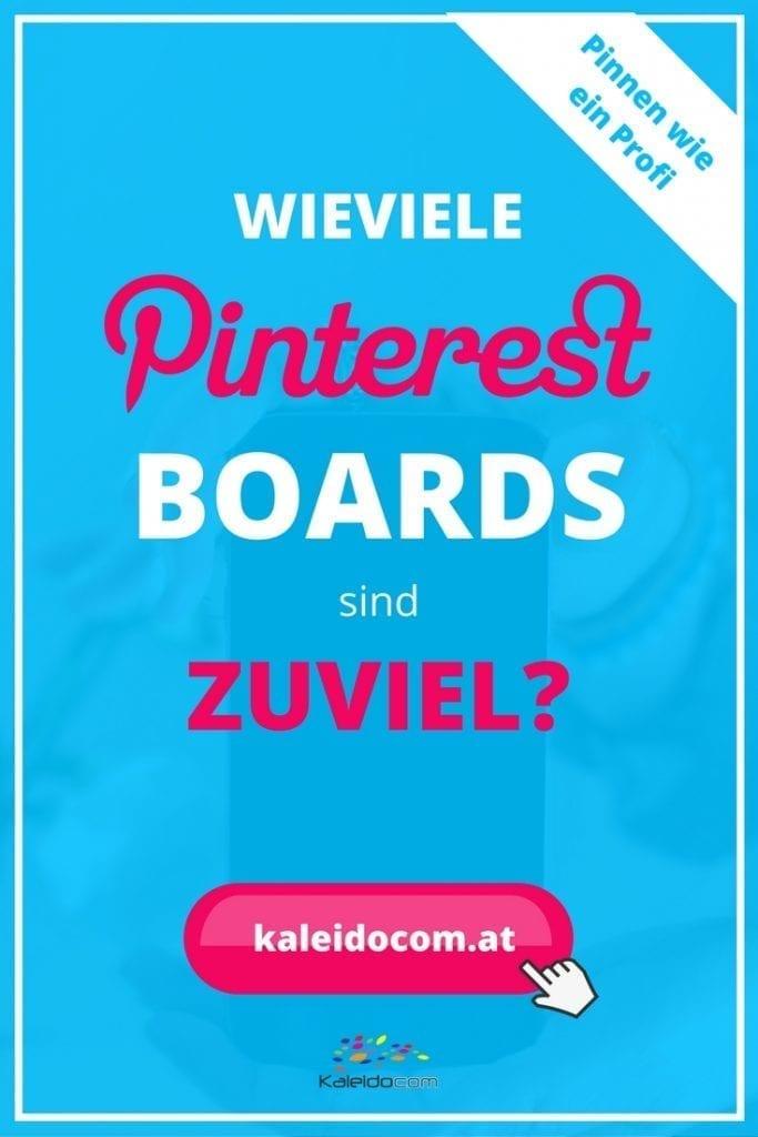 Sie möchten wissen, wie viele Pinterest Boards erfolgreiche Pinner haben? Klicken Sie hier für Tipps. Pinterest- Marketing Tipps für Blogger und Unternehmen.