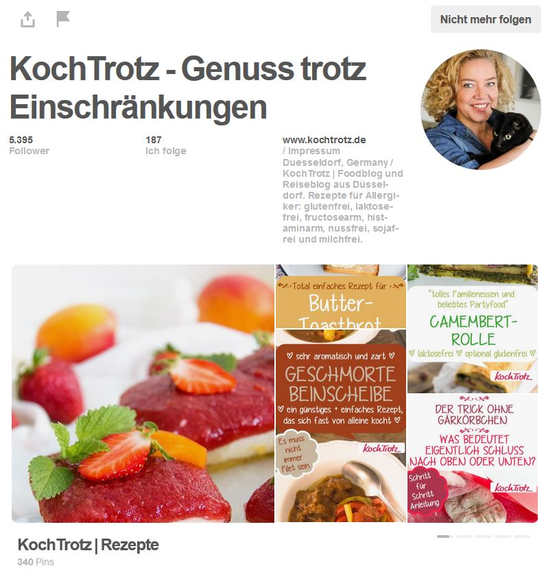 KochTrotz Pinterest Account