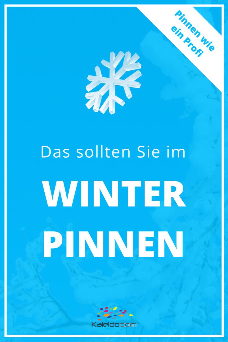 Die Saisonalität auf Pinterest ist ein wichtiger Faktor, den Sie auf jeden Fall beachten sollten. Gerade im Winter gibt es wieder viele saisonale Themen, die Ihnen gute Zugriffe bringen können, wenn Sie rechtzeitig darauf setzen. Das sollten Sie im Winter pinnen! #pinteresttipp #pinterestmarketing