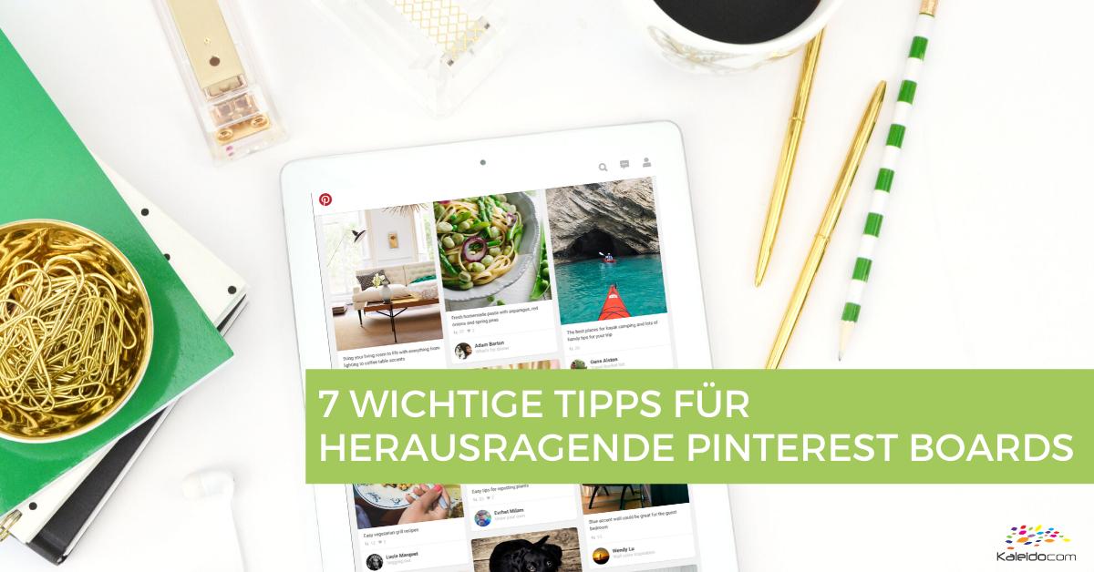 7 Tipps für Pinterest Boards, die Follower erhalten 1