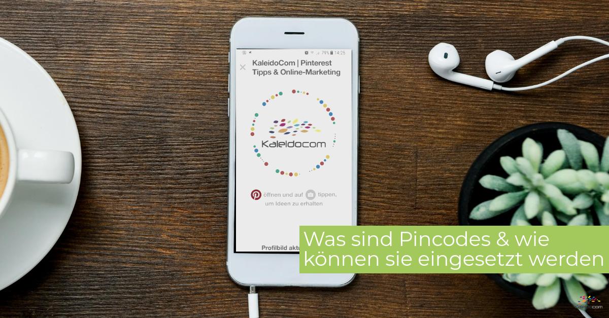 Handy am Tisch mit Pincodes Screenshot