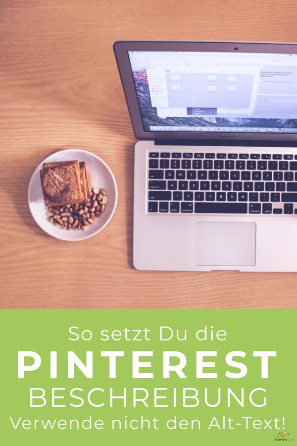 Pinbild Pinterest Beschreibung Laptop mit Keksteller Flatlay