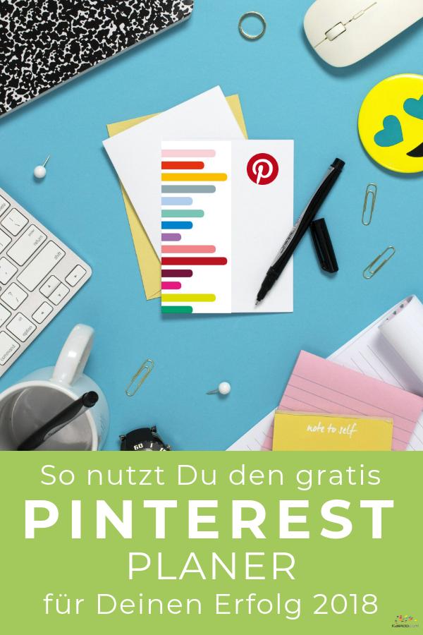 Pinterest-Planer keyboard table