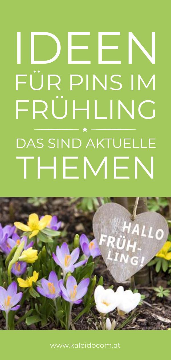 Pin Frühling Blumen Themen für Pinterest