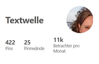 Screenshot Pinterest Profil Textwelle