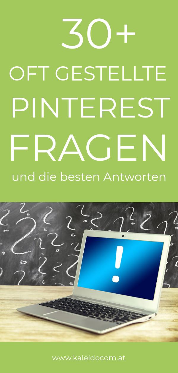 Pin Pinterest Fragen Laptop mit Rufzeichen