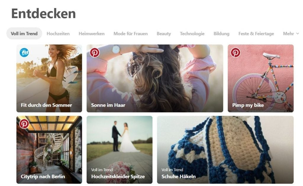 Pinterest Feature bekommen 2