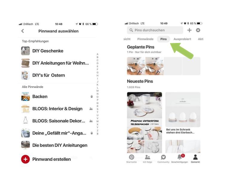 Pins in Pinterest planen & weitere Konten verbinden 3
