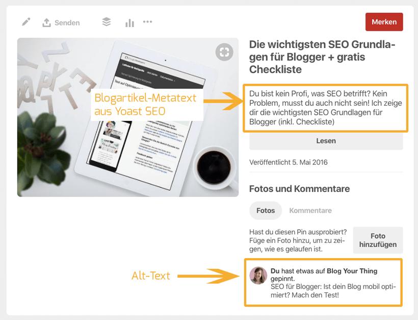 So optimieren Sie Ihren Blog für Pinterest 1
