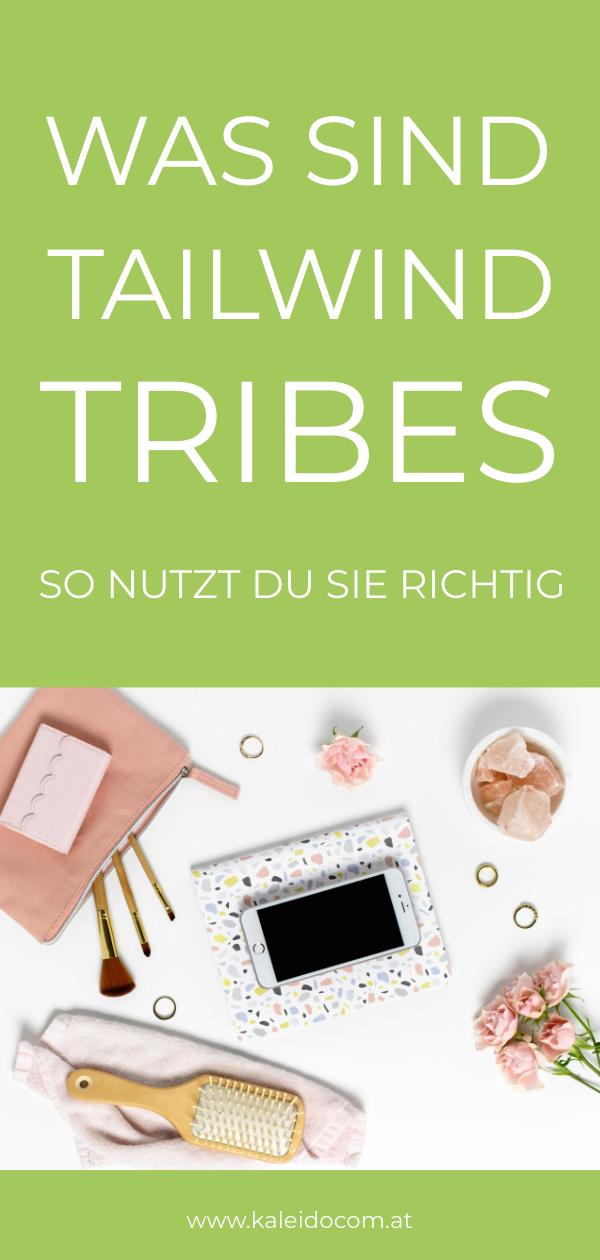 Pin Tribes Text und Flatlay mit Mobiltelefon